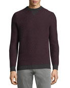 Contrast-Trim Cashmere Sweater