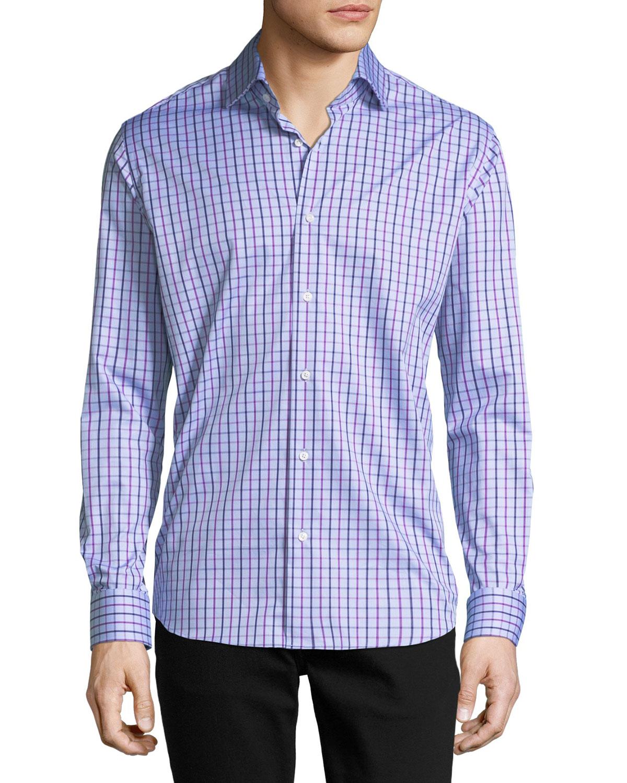 Long-Sleeve Check Sport Shirt
