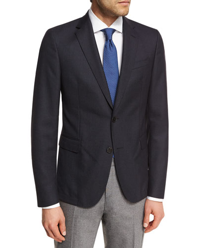 Birdseye Wool Two-Button Sport Coat