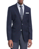 Windowpane Check Wool Sport Coat