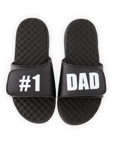 #1 Dad Slide Sandal, Black