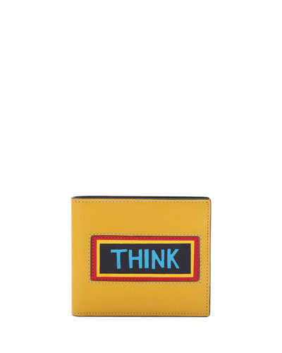 Think Vocabulary Leather Bi-Fold Wallet