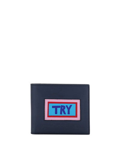 Try Vocabulary Leather Bi-Fold Wallet