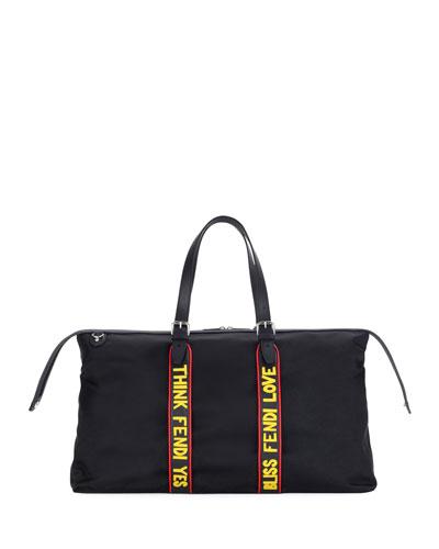 Vocabulary Nylon & Leather Travel Duffel Bag