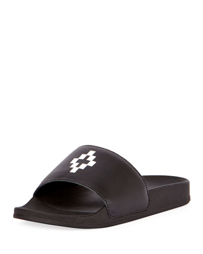 Bai Leather Pool Slide Sandal