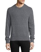 Crewneck Sweater w/ Side Slits
