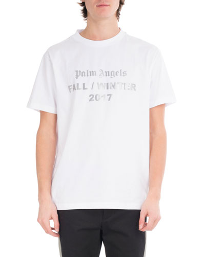Reflective Logo Cotton T-Shirt, White
