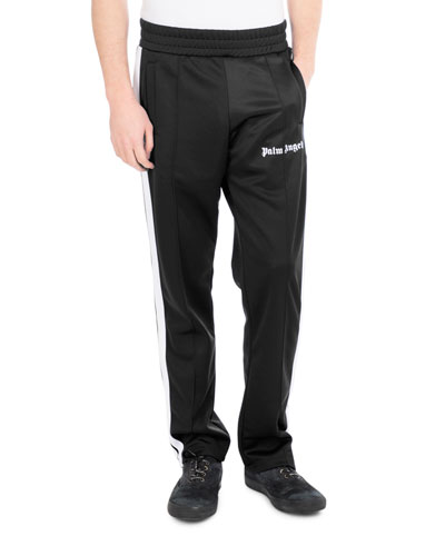 Logo Track Pants, Black/White