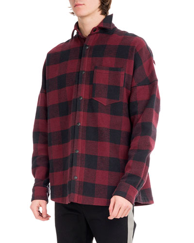 Buffalo Plaid Flannel Logo Shirt, Multicolor