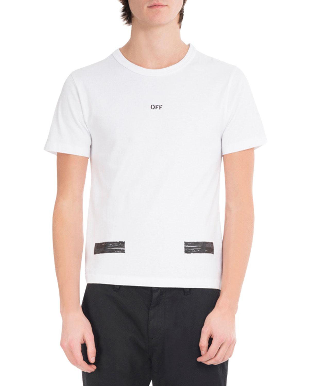 Brushed Diagonal Arrows Cotton T-Shirt