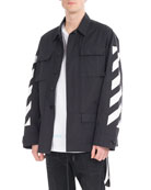 Brushed Diagonal Arrows Field Jacket