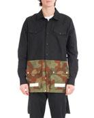 Camouflage Split Shirt
