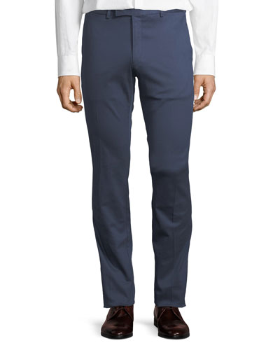 Slim-Fit Twill Trousers
