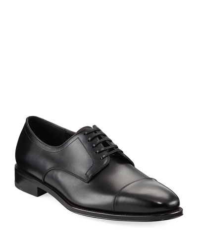 Leather Cap-Toe Oxford