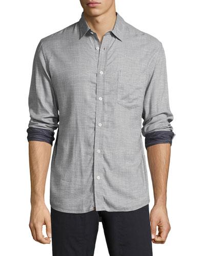 Kirby Line-Print Cotton Shirt