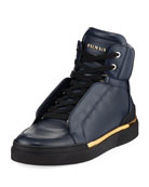 Atlas Suede High-Top Sneaker, Blue