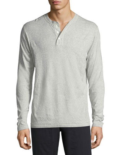 Cullman Cotton-Blend Henley T-Shirt