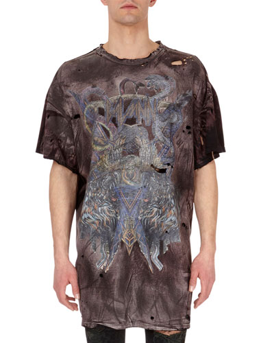 Distressed Faded-Graphic T-Shirt