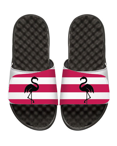 Striped Flamingo Slide Sandal