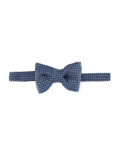 Textured Jacquard Bow Tie