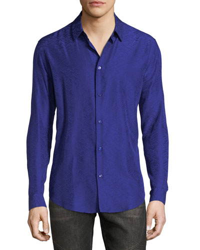 Greca Jacquard Sport Shirt