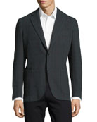 Windowpane Check Two-Button Sport Jacket