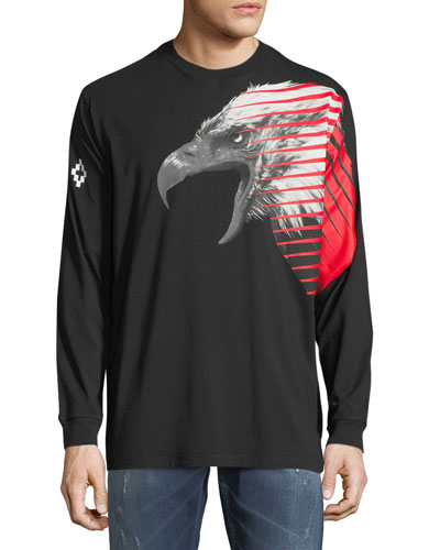 Iamens Eagle-Print Long-Sleeve T-Shirt
