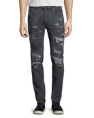 Arke Distressed Tie-Dye Slim-Fit Jeans