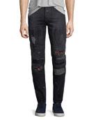 Ain Distressed Biker Jeans