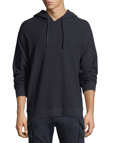 LS WAFFLE KNIT CTTN PULLOVER
