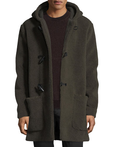 Hooded Sherpa Toggle Coat
