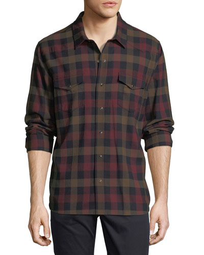 Check Wool Western Shirt