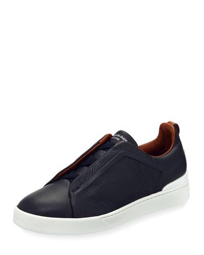 Triple-Stitch Slip-On Sneakers