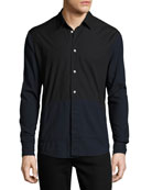 Two-Tone Blocked Cotton Shirt