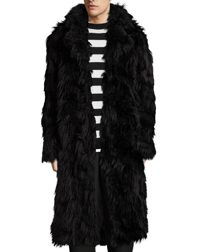 Iggy Shaggy Faux-Fur Long Coat