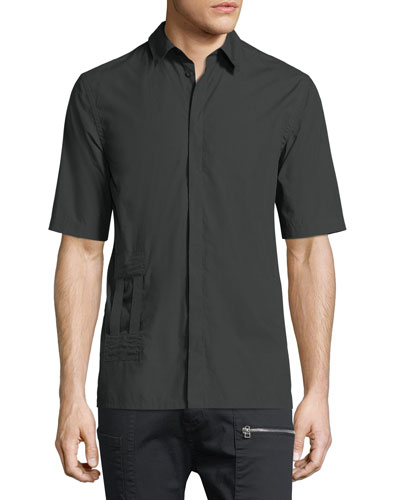 Bar-Tab Short-Sleeve Shirt
