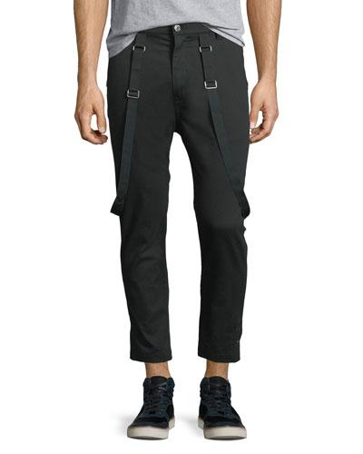 Cropped Suspender Pants