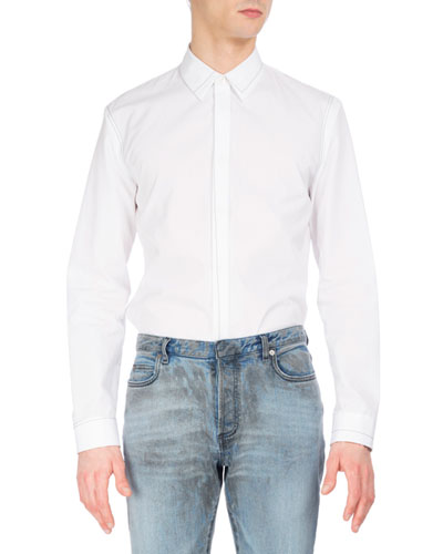 Contrast-Stitch Cotton Shirt