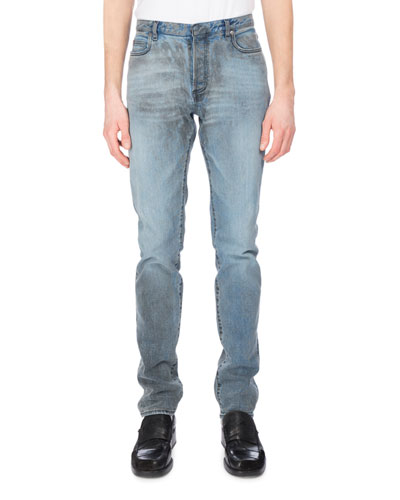Vintage Dirty-Wash Slim-Straight Jeans