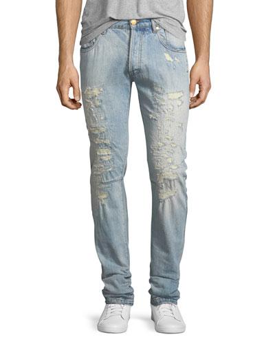 Super-Distressed Slim Jeans