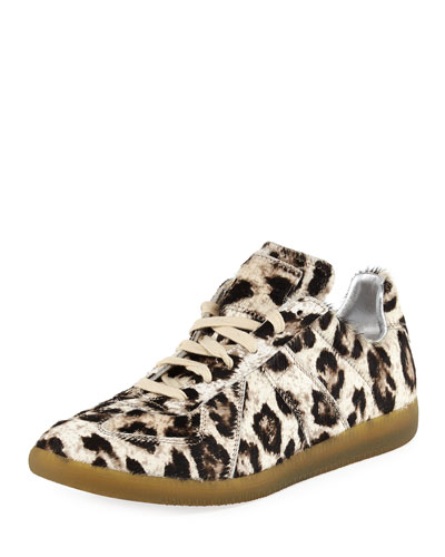 Replica Leopard-Print Calf Hair Sneaker