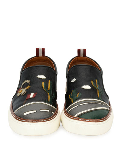 Herrison Cactus Leather Skate Sneaker