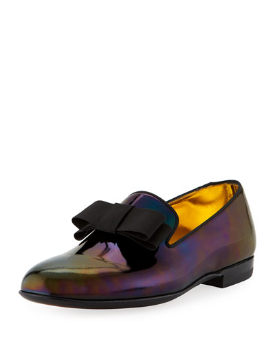 Bally Leathers BARKS PETROL PATENT LEATHER FORMAL LOAFER