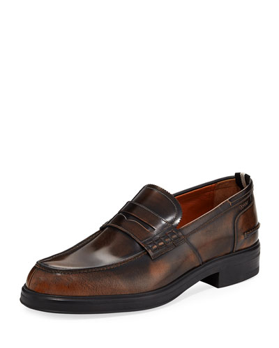 Mody Burnished Leather Penny Loafer