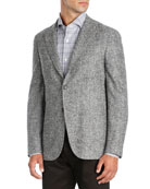 Herringbone Wool-Silk-Cashmere Sport Coat