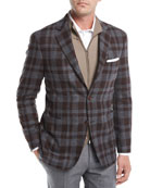 Large Check Wool Sport Coat