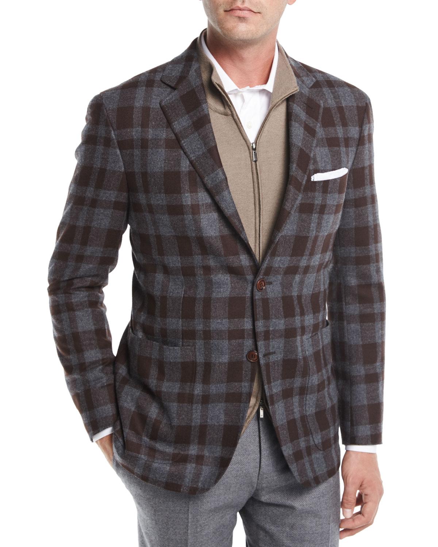 Large Check Wool Sport Coat