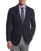 Double-Windowpane Cashmere Sport Coat