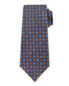 Silk Medallion-Print Tie