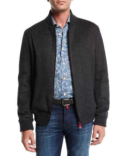 Double-Face Cashmere Bomber Jacket
